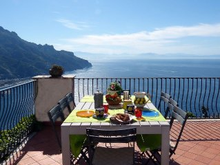 Spacious Ravello Villa, With Stunning Views And Secure Parking