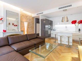 Exceptional design 74m2 Apartment Place Bellecour (Downtown) 2 bedrooms