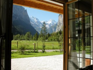 Glorious views, stylish chalet apartment, summer and winter retreat