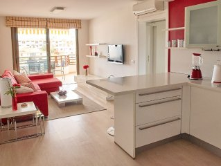 Apartamento junto a la playa con piscina, aire acondicionado y Wifi gratis