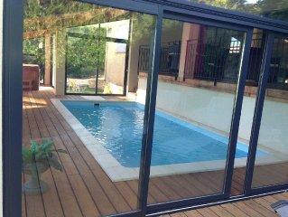 Villa individuelle avec piscine et spa jacuzzi au coeur de la Drome provencale