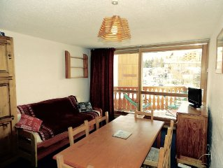 Add 17 to 26/12: 3 rooms bright, heart station, Ski slopes, near Jandri