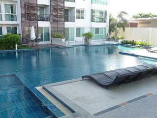 English owned pool view condo, now with personal internet for multi users.