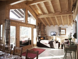 Chalet Anton: LUXURY 5* CHALET WITH JACUZZI IN STUNNING LOCATION