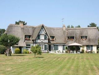 Belle Maison de famille et de caractere a Tourgeville, 300 m de DEAUVILLE