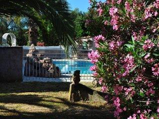 Mini-villa 39m2 type T2 avec piscine et parc arbore 3000m2 a 2kms de la mer