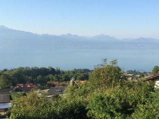 Belmont Sur Lausanne: Studio dans un chalet avec vue sur le lac
