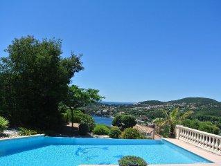 Provençaalse familie Villa aan de Cote d'Azur met prachtig uitzicht op zee.