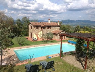 Restored Villa, private heated Pool, Wi-fi and TV (inc. UK TV).  Secure Payment