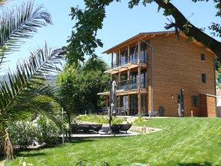 Villa La Tour: Luxury timber/glass Eco villa with superb coastal views