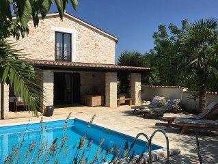 Stone Villa with Private Pool and Sea Views