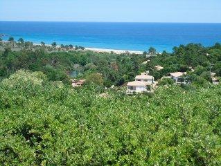 Villa avec superbe vue panoramique pour 6 a 8 personnes
