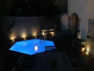 Spacious village house with pool, Plan de la Tour, Gulf de St Tropez,
