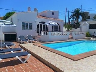 South facing detached Villa with Private Pool, Air Con, Free Wi-fi and UK TV.