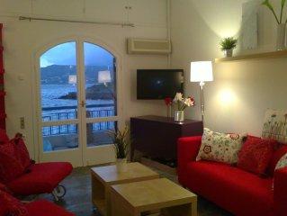 Sunny luxury  Beach apartment Aghios Nikolaos/ Kitroplateia
