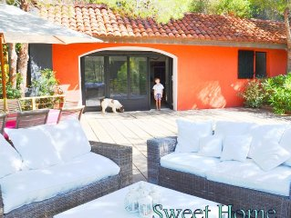 LARGE POOL HOUSE 16 PEOPLE, THE SEA, ACCESS BEACH -Coté riviera-