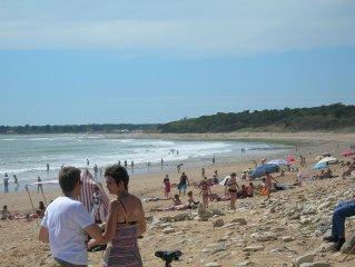 Grande plage sauvage du littoral vendeen (7kms de plage) dans foret domaniale
