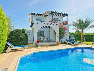Modern villa with private swimming pool set close to the beach in Argaka