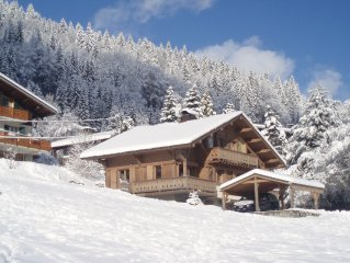 Beautiful chalet with hot tub,  central Morzine, fantastic ski-in location