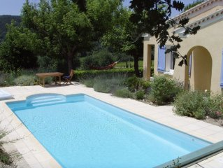 Peaceful Provencal villa with private pool and views near Vaison la Romaine