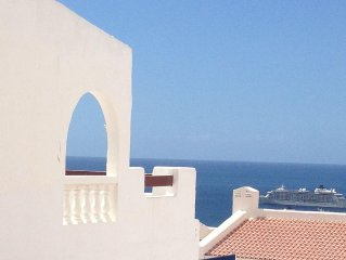 Spacious sunny flat in lovely PORT ROYALE with pool, large balcony, ocean view