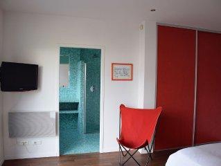Appartement grand confort exclusif dans maison architecte proche littoral