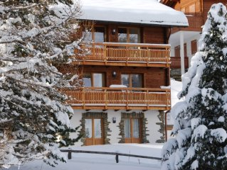Unique luxury chalet, stunning views, guaranteed snow, catering available