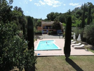 Luxury Grimaud Villa Apartment nr St Tropez, private heated pool