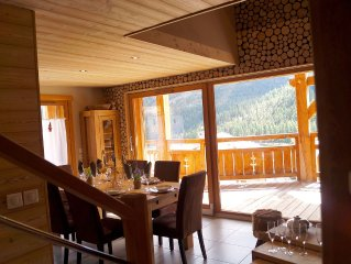 CHALET K Luxury 8 people in Montgenevre on tracks was winter with spa and pool