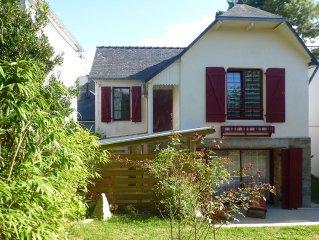 Jolie maison des années 30 à Carnac Plage - 6 à 7 pers
