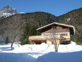 Grand chalet tres agreable, village de Vallorcine, a 15 minutes de Chamonix