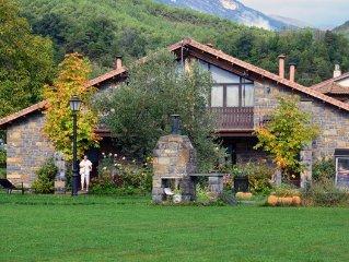 Paign houses Ribera. Park of Ordesa. Pyrenees of Huesca