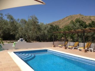 Six bedroom house in rural location with private pool and spa pool.