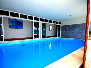Luxury Villa With Sea & Mountain Views .Heated Indoor Pool And WiFi  Access