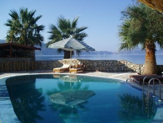 Unique villa sleeps 12+ with pool, beach & jetty in truly unspoilt turkey.