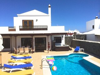 Fully Licensed 3 bed villa with private pool & hot tub, mountain & sea views