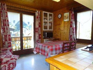 Appartement 6 personnes au centre du village avec vue sur les montagnes