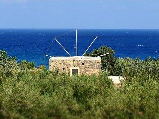 Authentique cretoise moulin a vent en pierre
