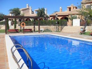 2 bed villa on Hacienda Del Alamo Golf Resort, WIFI available, Cable Tv,BBQ,Pool