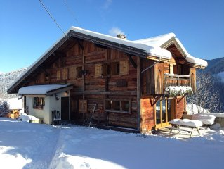 Great family cottage, massive views of Mont Blanc, Saint-Nicolas-de-Véroce