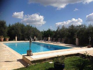 Villa grande piscine vue panoramique proche Cannes