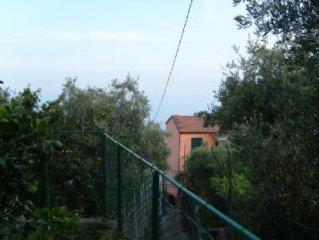 La Grotta di Giulio, nel parco delle cinque terre... Romantico appartamento...