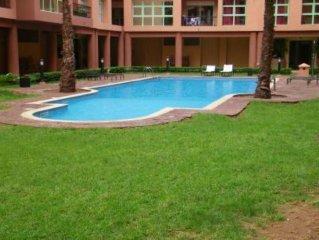 Apt neuf 100m2 avec piscine avec 2 grandes terrasses en face du jardin de majore