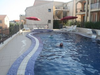 3 shared pools (2 large and 1 small jacuzzi pool)