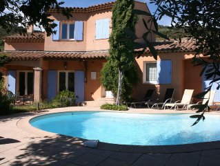 Spacious villa with pool near Cannes and Grasse