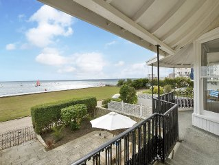 Panoramic sea views from our beautiful beach front house.