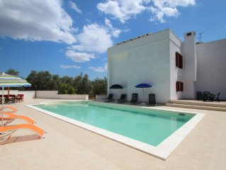 Secluded large family friendly Villa with private pool in its own olive grove
