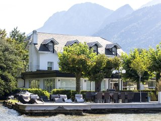 Luxury Lake House villa, Lake Annecy, up to 16, French Alps