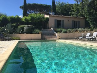 Provencal Villa With Private Pool With Views To Hilltop Village Of Gassin