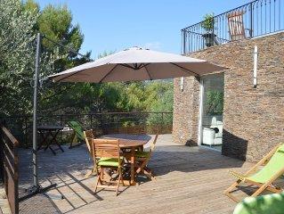 Luxueux 50 m2 avec terrasse et piscine a 15 minutes de Nice